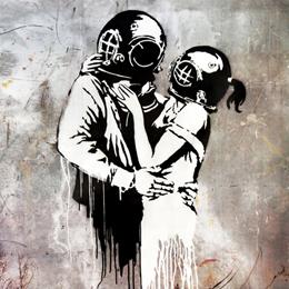 Kissing_Divers_Banksy_Canvas_Print