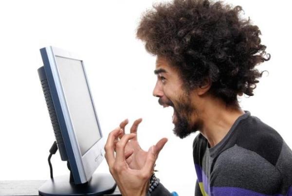 angry man computer