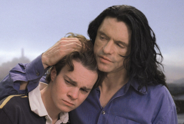 philip haldiman and tommy wiseau in the room