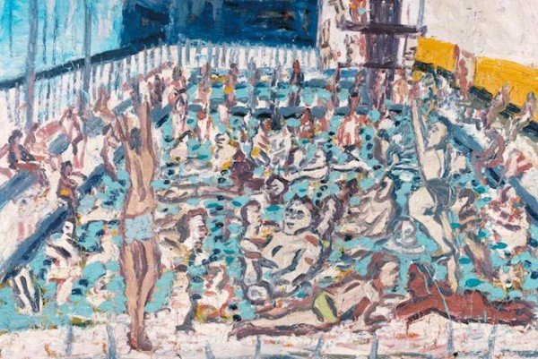 Children's Swimming Pool, Autumn Afternoon 1971 Leon Kossoff born 1926 Purchased 1981 http://www.tate.org.uk/art/work/T03246